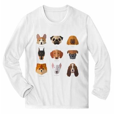 【犬 いぬ パグ プードル ポメラニアン ドーベルマン】メンズ 長袖 Tシャツ by Fox Republic