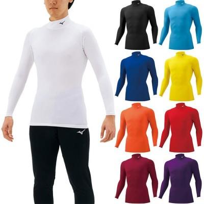 ミズノ メンズ バイオギア コンプレッションシャツ ハイネック アンダーウェア スポーツインナー トップス 長袖 UVカット 吸汗速乾 トレーニング 32MA1150