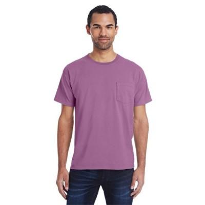 ユニセックス 衣類 トップス The ComfortWash by Hanes Unisex 5.5 oz. 100% Ringspun Cotton Garment-Dyed T-Shirt with Pocket - PURPLE PLM RAI