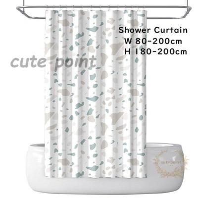 シャワーカーテン バスカーテン ビニールカーテン 防カビ 防水 浴室 バスルーム 風呂 ユニットバス  厚手  カーテン  80*180cm  180*200cm