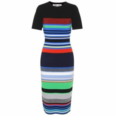 ダイアン フォン ファステンバーグ Diane von Furstenberg レディース ワンピース ワンピース・ドレス Striped knit dress Black Multico