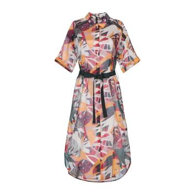 MARIELLA ROSATI 7分丈ワンピース・ドレス オレンジ 42 コットン 100% 7分丈ワンピース・ドレス