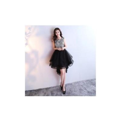 パーティードレス フィッシュテールスカート キラキラ 華やか ノースリーブ  シンプル レディース ワンピース 結婚式 二次会 お呼ばれドレス kh-0171