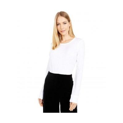 J.Crew レディース 女性用 ファッション Tシャツ Vintage Cotton Crew Neck Long Sleeve - White