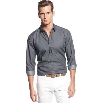 ヒューゴボス シャツ トップス メンズ Ronny Slim-Fit Shirt Grey