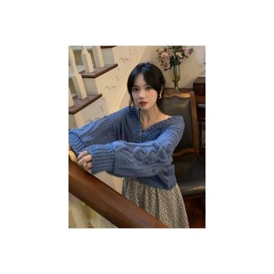 【送料無料】秋冬 年 韓国風 ルース ツイスト 紋 セーターの女性 アウトドア 怠惰 | 346770_A63970-2485020