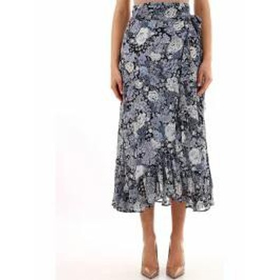 Ganni レディーススカート Ganni Wrap Skirt Blue Basic