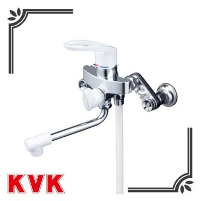 KVK 浴室水栓 KF5000HA 楽締めソケット付 シングルレバー式シャワー