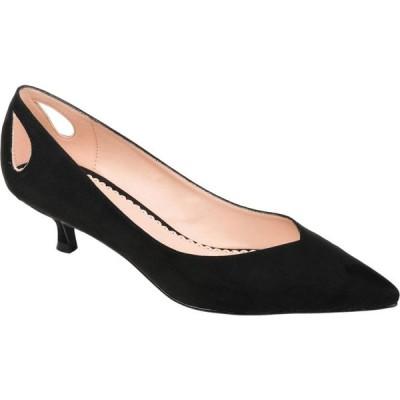 ジュルネ コレクション Journee Collection レディース ヒール ローヒール シューズ・靴 Goldie Kitten Heel Black