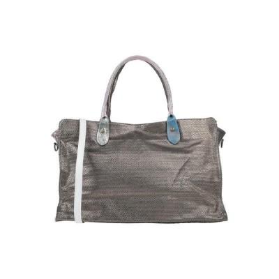 EBARRITO レディース ハンドバッグ 鞄 鉛色