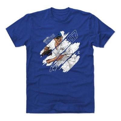 フリオ・ウリアス Tシャツ MLB ドジャース Stripes T-Shirt 500Level ロイヤルブルー