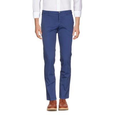 マニュエル リッツ MANUEL RITZ パンツ ブルー 46 コットン 63% / ポリエステル 33% / ポリウレタン 4% パンツ