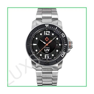 LIV Swiss Watches GX-Diver's 41mm Classic Black Casual Watch for Men - 41 MM Stainless Steel with Date Calendar - 1000 feet Water-Resistant
