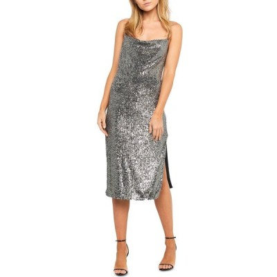 バルドー Bardot レディース パーティードレス ミドル丈 ワンピース・ドレス Sequined Midi Dress Silver