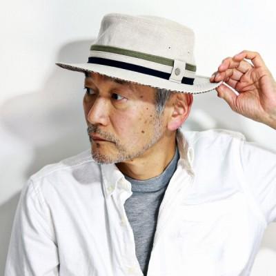 ダックス ハット 春 夏 帽子 サファリハット 麻 リネン バケットハット ブランド メンズ 紳士 サイズ調整機能付き チェック ナチュラル 父の日