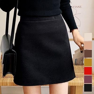 起毛ウールミニスカート。6色 / 色んなトップスに合わせやすい~ [ontheriver] 送料0円! 大人可愛いデイリールック。韓国ファッションNo.1