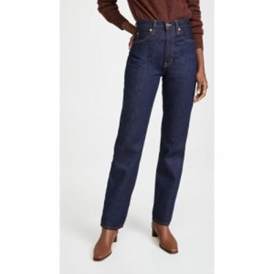 シルバーレーク SLVRLAKE レディース ジーンズ・デニム ボトムス・パンツ London High Rise Straight Leg Jeans Dark Indigo