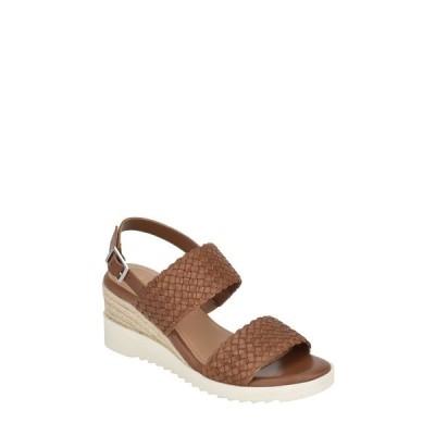 イヴァルヴ サンダル シューズ レディース Zola Wedge Sandal Medium Brown Leather