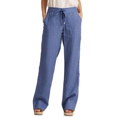 ラルフローレン カジュアルパンツ ボトムス レディース Wide-Leg Linen Pants Blue