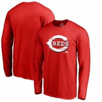 Fanatics Branded ファナティクス ブランド スポーツ用品  Fanatics Branded Cincinnati Reds Red Splatter Logo Long