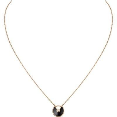 カルティエ CARTIER ネックレス ピンクゴールド 18K オニキス ダイヤモンド XS