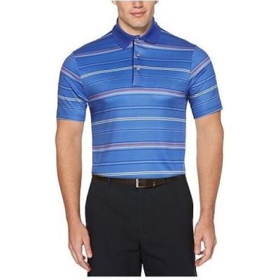 ピージーエーツアー PGA TOUR メンズ ポロシャツ トップス Striped Polo Shirt Dazzling Blue