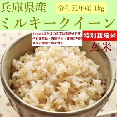 玄米 1kg ミルキークイーン 兵庫県産 令和2年産