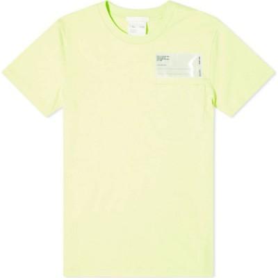 ヘルムート ラング Helmut Lang メンズ Tシャツ ポケット ロゴTシャツ トップス patch logo pocket tee Electric Yellow