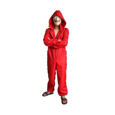 Angelaicos Unisex Dali Mask Red Costume for La Casa De Papel Jumpsuits 2019 New (XXL)[並行輸入品]