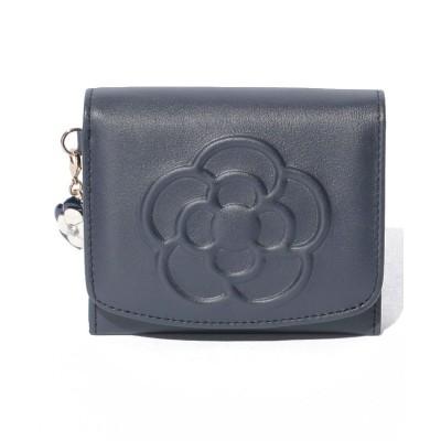 【クレイサス(バッグ)】 ワッフル 2つ折り財布 レディース ネイビー F CLATHAS