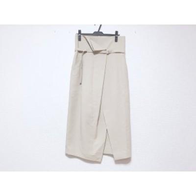 エンフォルド ENFOLD ロングスカート サイズ36 S レディース - ベージュ【中古】20201201