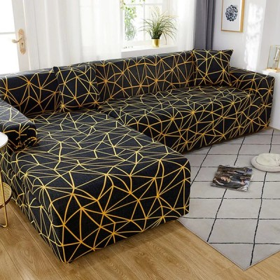 弾性ソファリビングルーム調節可能な幾何ソファ長椅子カバーラウンジ断面ソファコーナーソファ本のカバー