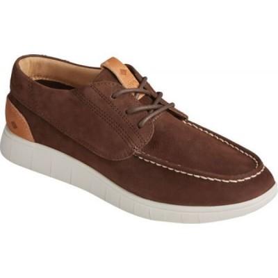 スペリートップサイダー Sperry Top-Sider メンズ スニーカー シューズ・靴 Coastal PLUSHWAVE 3-Eye Sneaker Dark Chocolate Nubuck