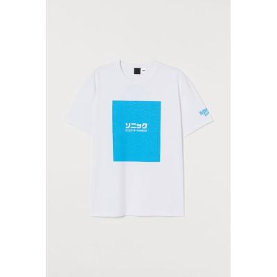 H&M - プリントTシャツ - ホワイト