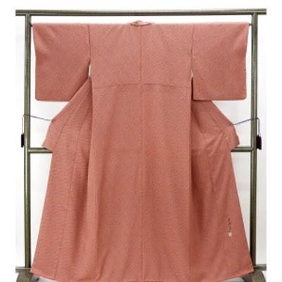 小紋 正絹 染色作家 斉藤三才作 身丈161.5cm 裄丈65.5cm 小紋 良品 リサイクル 着物