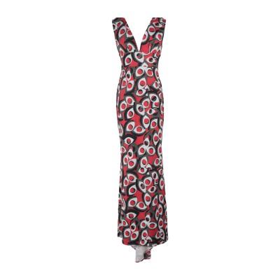 MARC ELLIS ロングワンピース&ドレス レッド XS ポリエステル 65% / Lurex® 25% / ポリウレタン 10% ロングワンピ