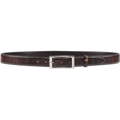 ファブリッツィオ マンチーニ FABRIZIO MANCINI メンズ ベルト Leather Belt Dark brown