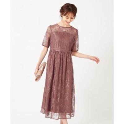エニィスィス Sサイズ(any SiS S)/【洗える】エアリーチュールレース ドレス