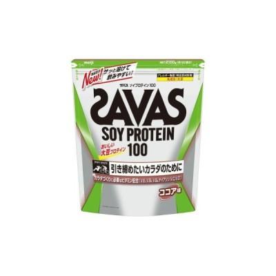 ザバス SAVAS ソイプロテイン100 ココア味<100食分> 2,100g CZ7473(旧品番CZ7444)