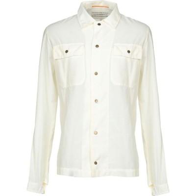ボクー ..,BEAUCOUP メンズ シャツ トップス solid color shirt Ivory