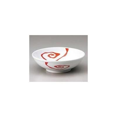 ホ678-137 白釉赤雲竜23cm玉丼