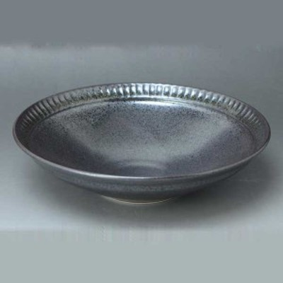京焼 清水焼 鉢 黒釉ソギ こくゆうそぎ