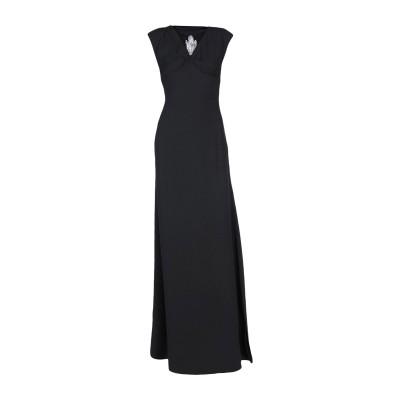MARCIANO ロングワンピース&ドレス ブラック 42 100% ポリエステル ロングワンピース&ドレス