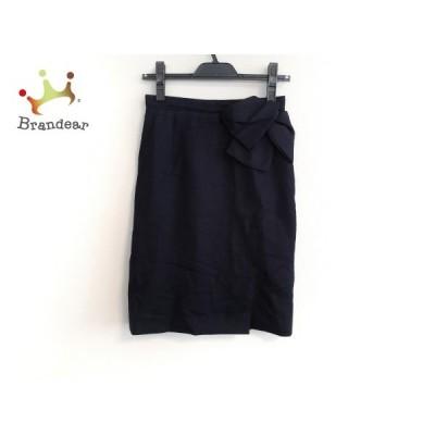 ジャスグリッティー JUSGLITTY スカート サイズ1 S レディース ダークネイビー リボン/ラメ     スペシャル特価 20200424