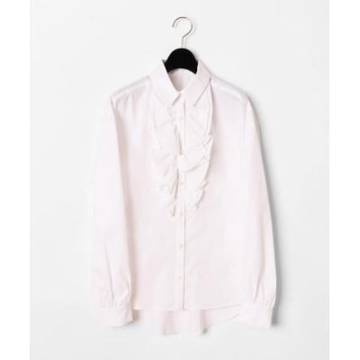 【グレースコンチネンタル】 フリルドレスシャツ レディース ホワイト 36 GRACE CONTINENTAL