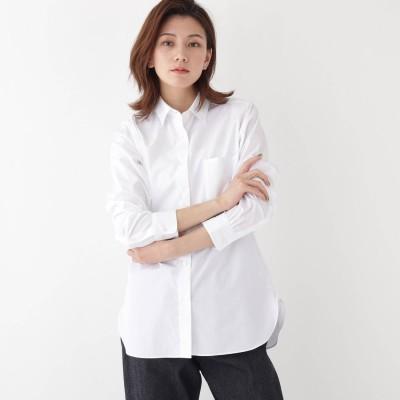 ドレステリア DRESSTERIOR 【CLASSY.1月号/12月号/CLUEL11月号/Precious12月号掲載】Thomas Maisonブロードシャツ (ホワイト)