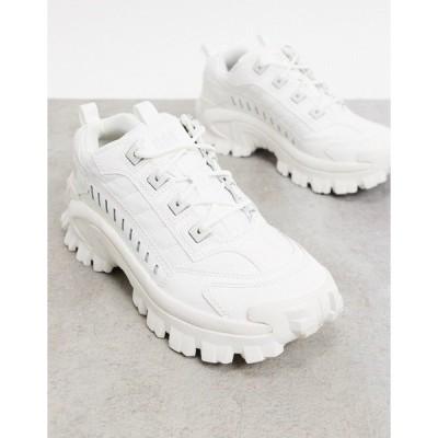 キャットフットウェア メンズ スニーカー シューズ CAT intruder sneakers in triple white White