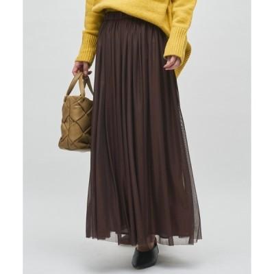 スカート 【動きのある足元に】チュール スカート