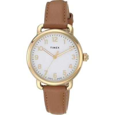 タイメックス Timex レディース 腕時計 34 mm Standard Gold/Silver/Tan