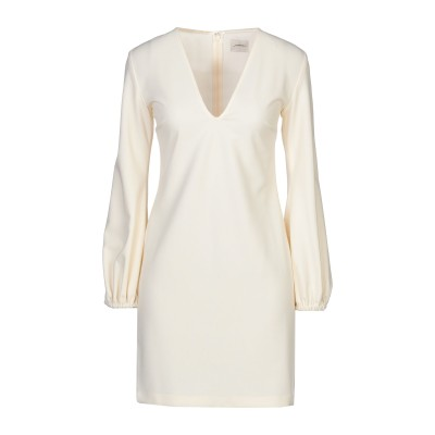 メルシー ..,MERCI ミニワンピース&ドレス アイボリー 38 ポリエステル 95% / ポリウレタン 5% ミニワンピース&ドレス